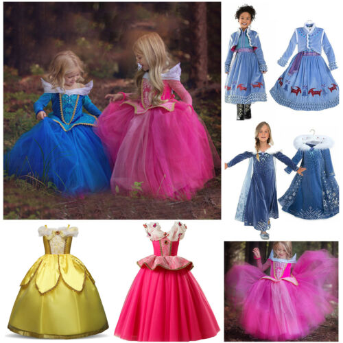 Kids Girl's Disney Princess Costume Fancy Dress Cosplay Part