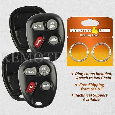 Monte Carlo Key (2 Cases for Chevy Impala Monte Carlo Keyless Remote Car Entry Key Fob Shell Pad )