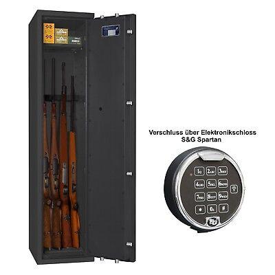 Waffenschrank Waffentresor Klasse 0 EN 1143-1 mit Zahlenschloss 4 Waffenhalter