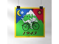Poster Bicycle Day 1943 Albert Hofmann LSD Vintage Hofmann/'s Bike 42cm²