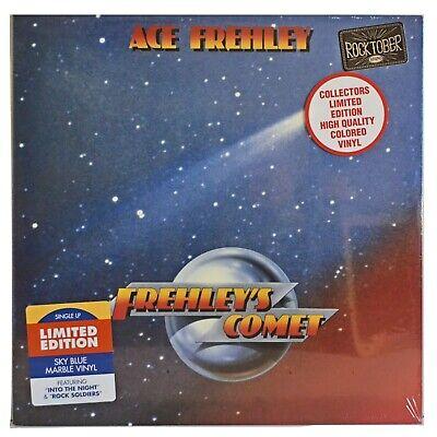 Ace Frehley Frehley's Comet Vinyl Blue & White Colored LP Rocktober 2017 KISS