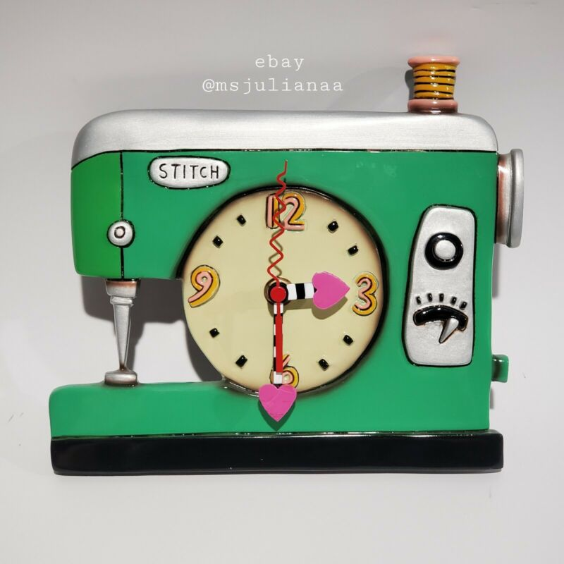 allen designs wall clock Stitch Sewing Machine No Sissors