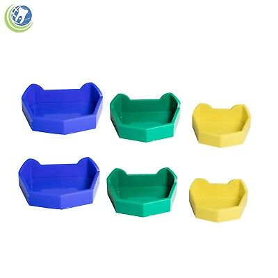 Dental Lab Model Base Former Molds Tray Loading With Notches Color Coded 6set