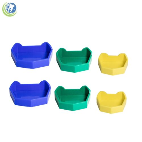 Dental Lab Model Base Former Molds Tray Loading with Notches Color Coded 6/set