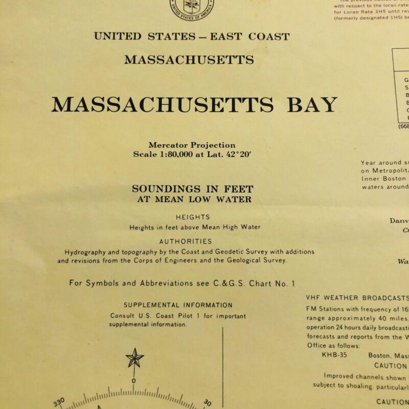 1969 C&GS Chart #1207 Massachusetts Bay (10)
