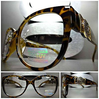 CLASSIC RETRO CAT EYE Style Clear Lens EYE GLASSES Unique Leopard Fashion (Leopard Frame Glasses)
