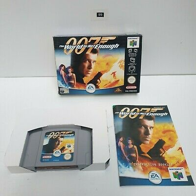 007 The World Is Not Enough Nintendo 64 N64 Game Boxed Complete PAL oz99