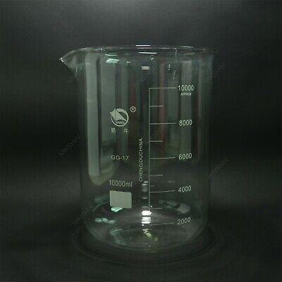10000ml Borosilicate Glass Beaker10litre Low Formspout Mouthnew Lab Glassware