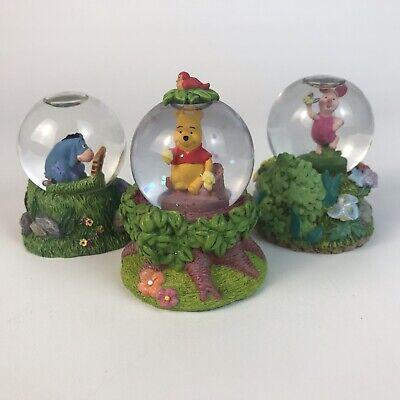 Lot of 3 Disney Mini Glitter Snow Globes WINNIE THE POOH + PIGLET + EEYORE
