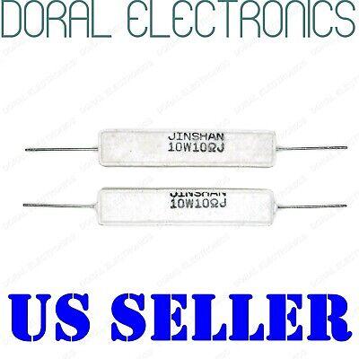 2x 10w 10 Ohm 1r 5 Ceramic Cement Power Resistor New 10ohm 10 W 10watt Watt