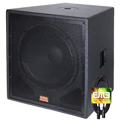"New EMB Professional EBP12Sub Bass Gig 12"" 1200 Watt Active Powered PA Subwoofer"