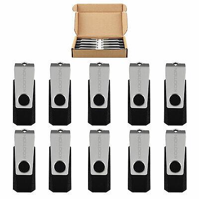 Portable Black 10 Pcs 32GB Anti-skid Rotating USB 3.0 Flash Drive Memory Storage (Portable Memory Storage)