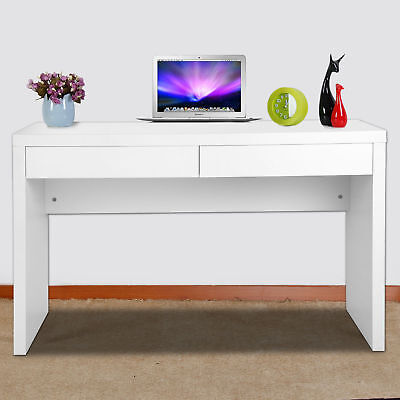Laptop PC Computer Desk Desktop Table Workstation With Drawer White Home Office