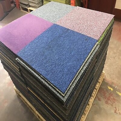 Patchwork Carpet Tiles. Good Condition. Ideal For Home Or Office.