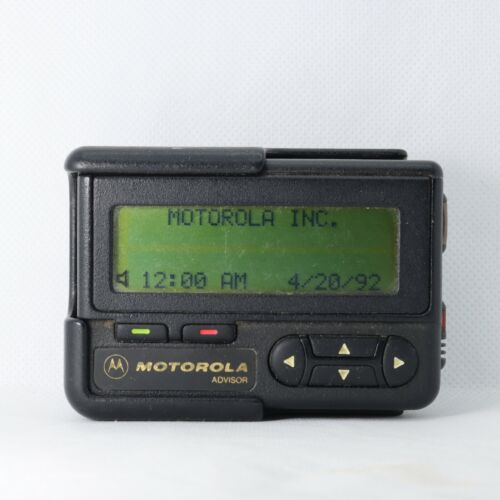 Vintage Motorola Pager ADVISOR Work Great Prompt Information Programeming Free