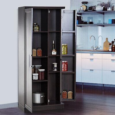 """72"""" Wood Free Standing Kitchen Pantry Organizer Storage Cabi"""