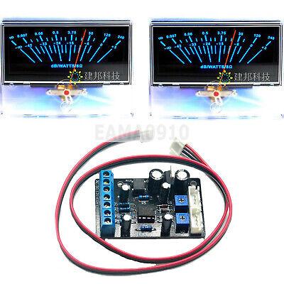 2pc P-97 Audio Volume Unit Indicator Peak Amp Db Level Meter W1pc Driver Board