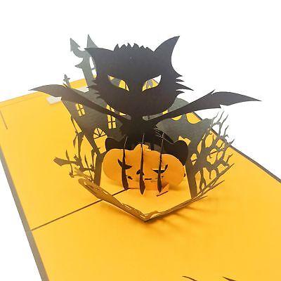 Halloween Evil Cat - WOW Pop Up Card - Wow Halloween
