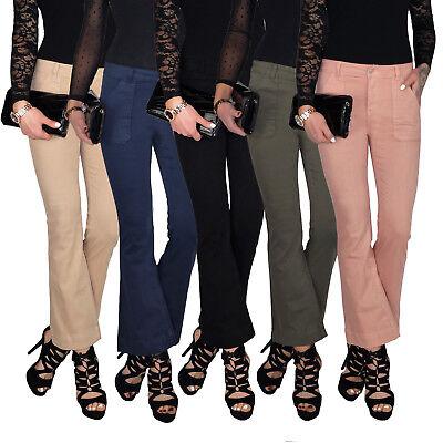 Damen Bootcutjeans Schlagjeans Schlag Hose Straight Leg Kick Flare Jeans E194 Hose Flare Jeans