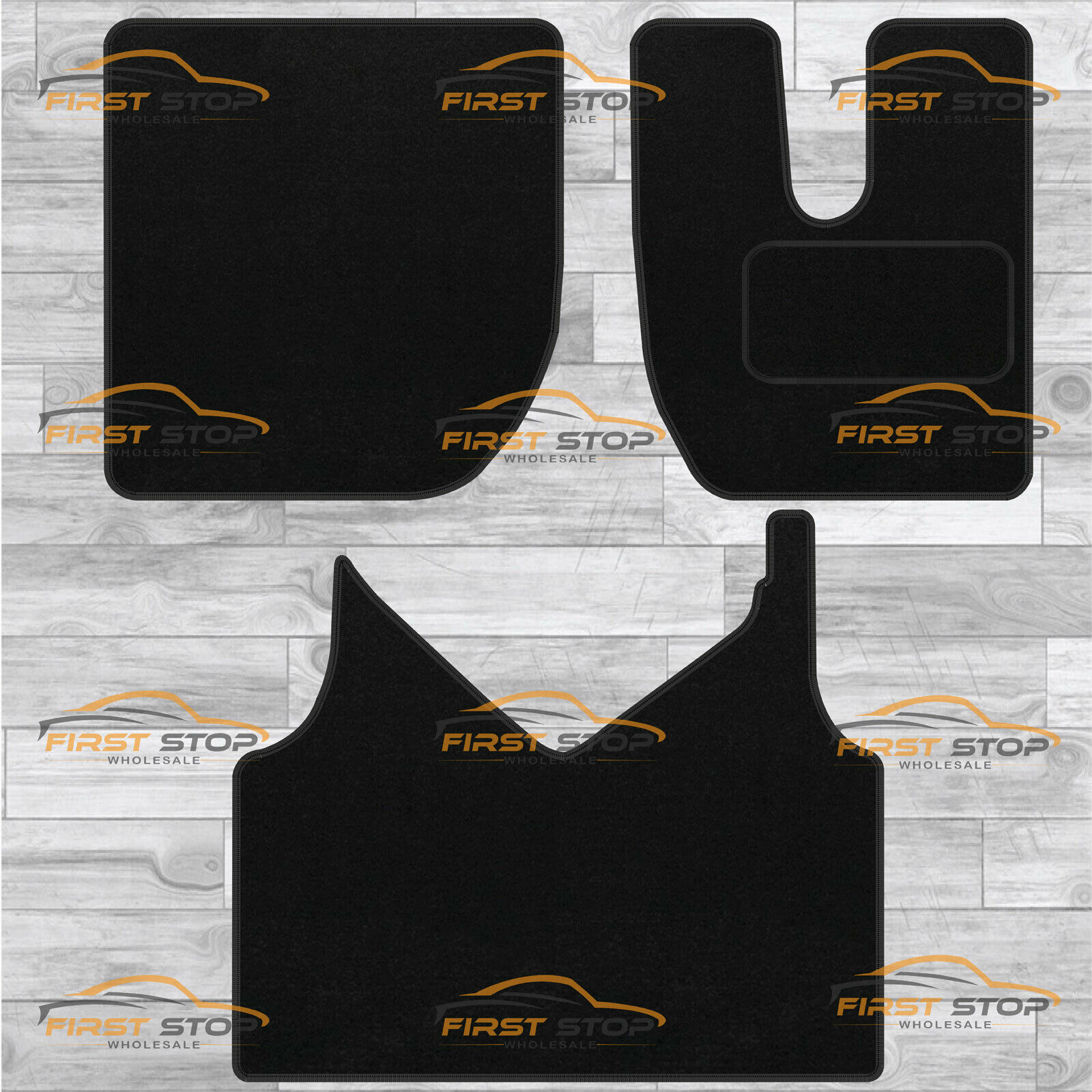 IVECO DAILY 2000-2006 FULLY TAILORED CLASSIC CAR FLOOR MATS BLACK