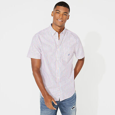 Nautica Mens Classic Fit Striped Oxford Shirt