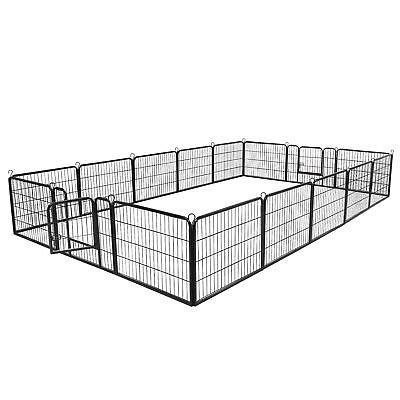 Dog Kennel Crate Pet Enclosure Exercise Playpen Detachable Panel Multiple Shape