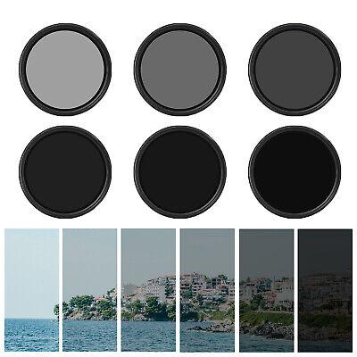 1x Variabler Fader ND Filter Graufilter 67mm ND2 bis ND400 mit Schutzhülle