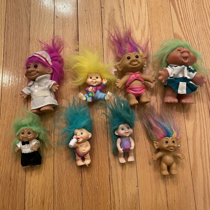 Vtg 80s 90s Troll Doll Lot