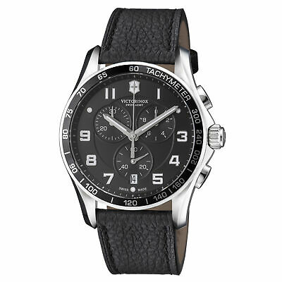 Victorinox Chrono Classic Quartz Movement Black Dial Men's Watch 241651