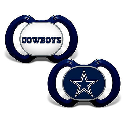 Dallas Cowboys Pacifiers 2 Pack Set Infant Baby Fanatic BPA Free NWT