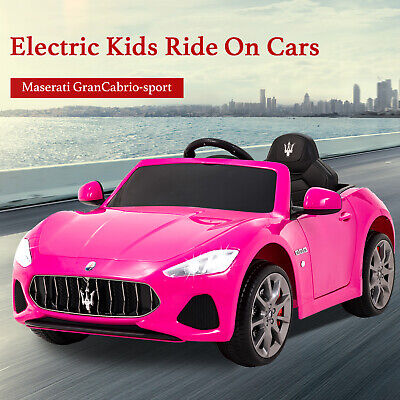 Maserati Cabrio Electric Kids Ride On Battery Toy Car with Remote Control Pink