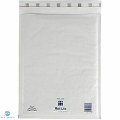 5 K7 K/7 White 350x470 mm Padded Bubble Wrap Mail Lite Postal Bag Envelopes New