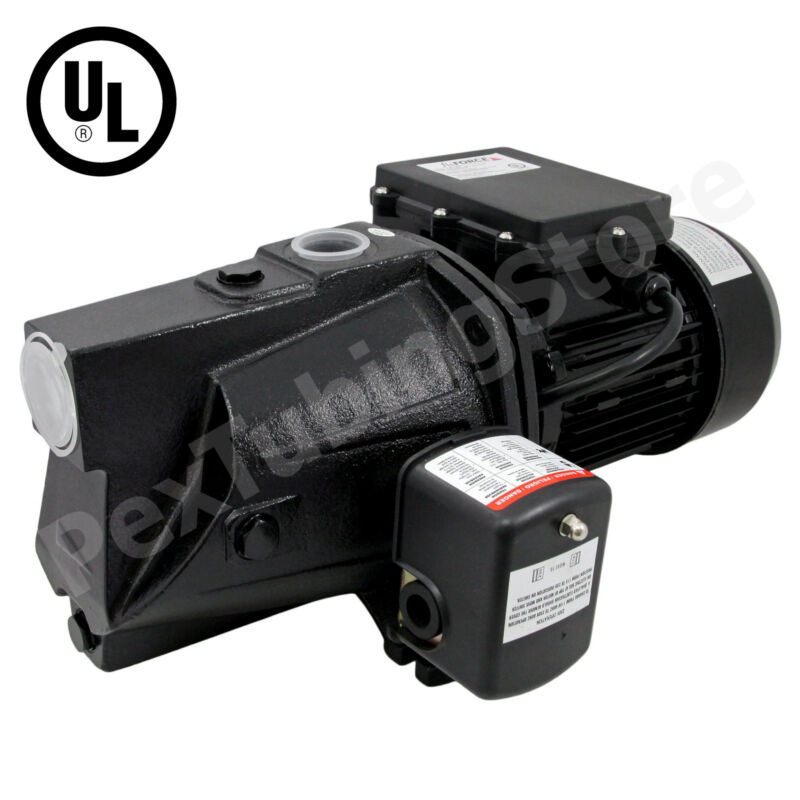 3/4 HP Shallow Well Jet Pump w/ Pressure Switch, Dual Voltage