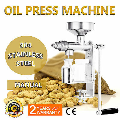 Manual Oil Press Machine Oil Extractor Stainless Ssteel Sunflower Seeds Cereal