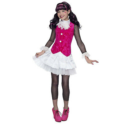 Child Girl's Monster High Draculaura Halloween Costume Jacket Skirt L M XL](Draculaura Monster High Halloween Costume)