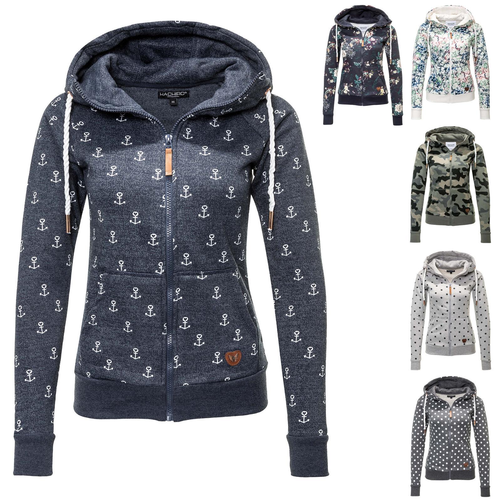 Hailys Damen Sweatjacke mit Kapuze Damenjacke Hoodie Übergangsjacke Sweater