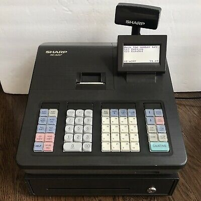 Sharp Xea207 Menu Based Control System Cash Register - Tested And Works