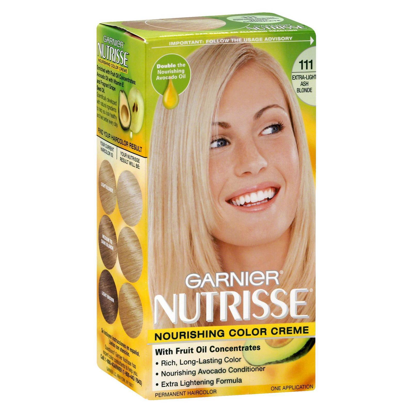 3 Pk Garnier Nutrisse Extra Light Ash Blonde 111 White Chocolate Ebay