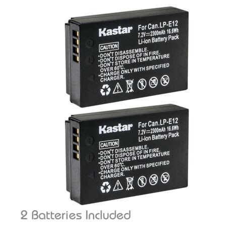 Kastar 2 Battery for Canon EOS M M2 M10 M50 M100 100D Rebel SL1 Kiss X7 LP-E12