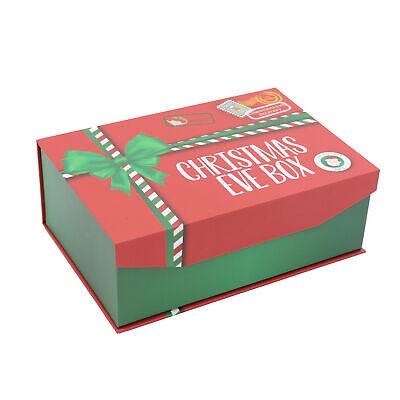 Navidad Víspera Caja de Regalo con Imán Cierre - Grande 27.5cmx 18.5cmx...