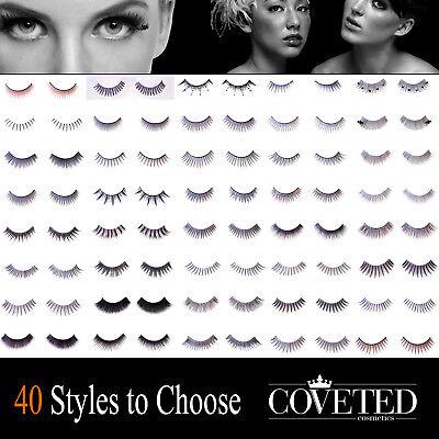 False Eyelashes Natural 10 Pairs 5,2,1 LOT Feather Human Hair Lashes by COVETED - Feather Fake Eyelashes