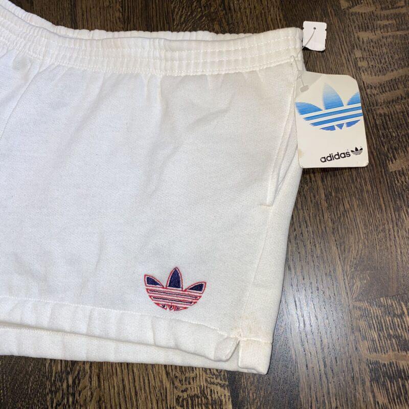 "NOS Vtg 70s 80s ADIDAS Trefoil Shorts Sweatpant SOFT pockets Sprinter 2"" MENS XL"