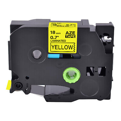 1pk Tz-641 Label Tape Black On Yellow Tze-641 For Brother P-touch Pt-1880 18mm