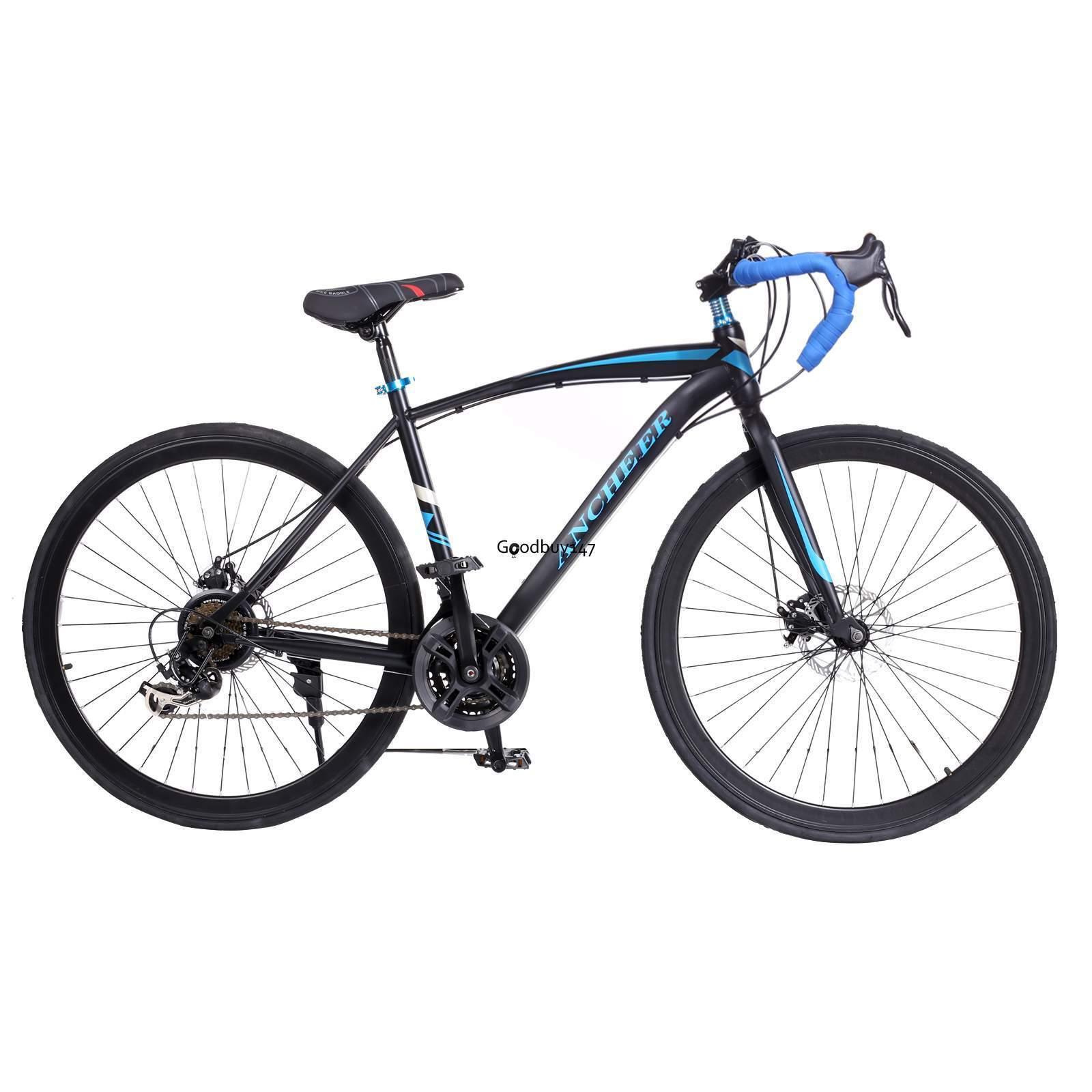 Mens 49.5cm High-carbon Steel Road Bike Racing 700C Bicycle 21 Speed