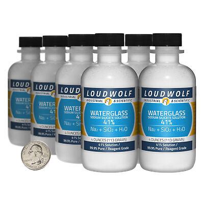 Sodium Silicate 2 Pounds 8 Bottles 99.9 Pure Reagent Grade 41 Solution