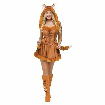 Fun World Women's Fox Foxy Lady Halloween Costume | 121724 (Fun Halloween Costumes For Women)