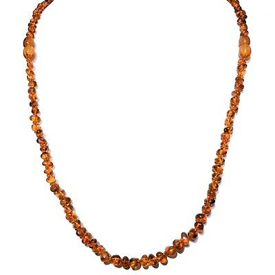 Cognac Baltic Amber Necklace - CHARGED Natural Lithuanian Cognac Baltic Amber 26