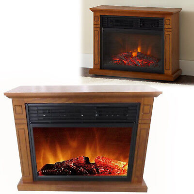INFRARED ELECTRIC FIREPLACE 1,500-Watt Wood Furniture 3-Element Mantel 29 Inch for sale  USA