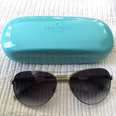 Kate Spade Blossom Sunglasses 58mm Aviator Silver 0YB7 Women's NEW (Silver Sunglasses Womens)