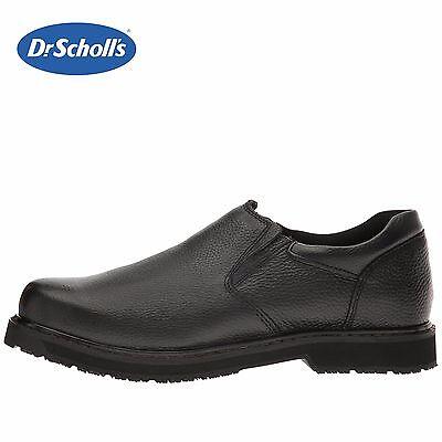 Mens Winder (Mens Dr. Scholl's Winder II Work Loafer Memory Foam BLK Leather Slip-Resist)